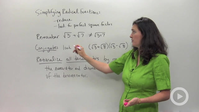 Dividing Radicals and Rationalizing the Denominator