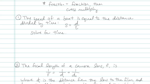 Solving a Rational Equation for a parameter - Problem 3