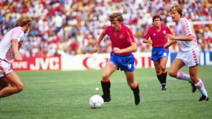 Butragueño marca cuatro goles en el Dinamarca-España (1-5) del Mundial de México 1986