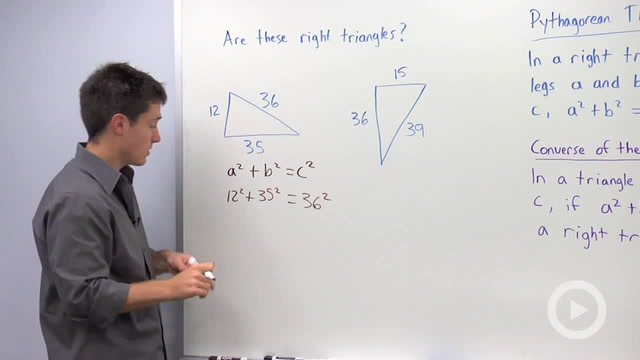 Converse of the Pythagorean Theorem - Problem 1