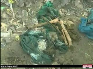 کراچی کے علاقے ناظم آباد میں کھدائی کے دوران انسانی ہڈیاں برآمد