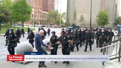 Se recupera hombre agredido por policía de Buffalo, cuya agresión se viraliza