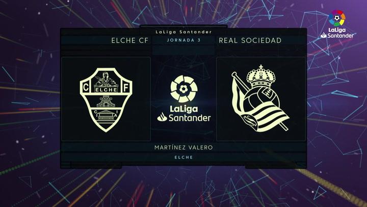 LaLiga Santander (J.3): Elche 0-3 Real Sociedad