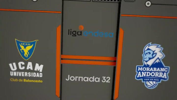Resumen del UCAM Murcia - MoraBanc Andorra (76 - 79)