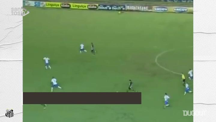 Quatro golaços de Neymar pelo Santos