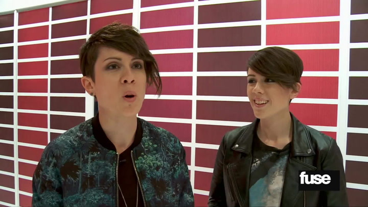 Interviews: Watch the Moment When Tegan and Sara Meet New Kids on the Block