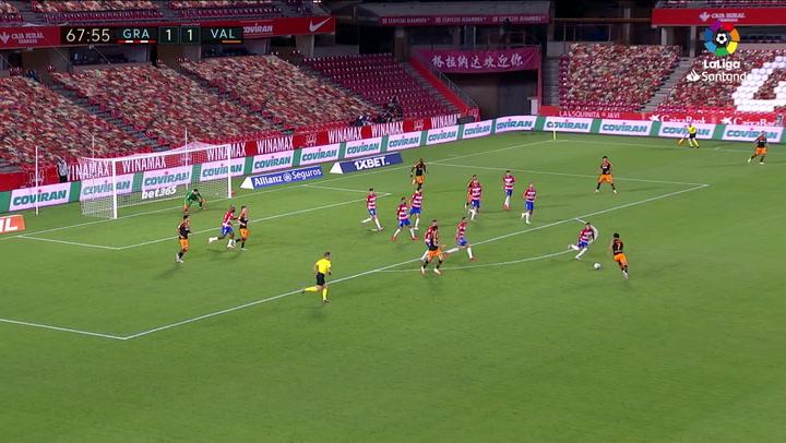 Gol de Guedes (1-2) en el Granada 2-2 Valencia