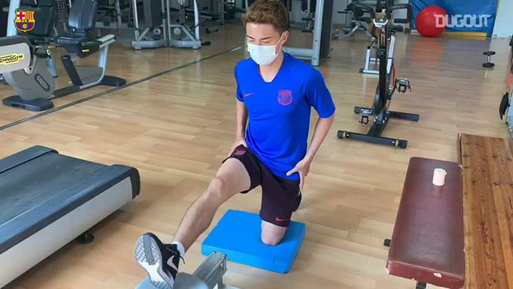 Hiroki Abe FC Barcelona İle Antrenmanlara Döndü