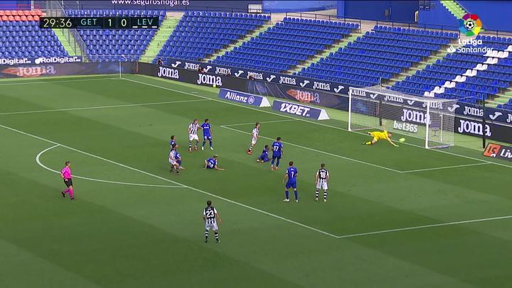 Gol de Melero (1-1) en el Getafe 1-1 Levante