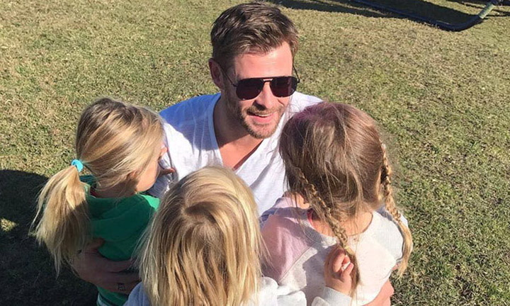 ¡Imposible no reírse! El baile de Chris Hemsworth con sus hijos a ritmo de Miley Cyrus