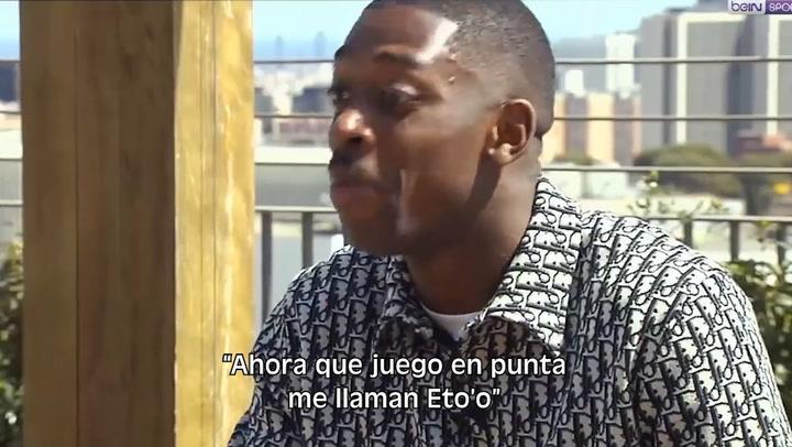 """Dembélé: """"En el Barça soy feliz, me llaman Eto'o en el vestuario"""""""