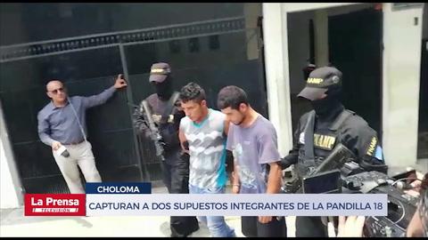 Capturan en Choloma a dos supuestos integrantes de la pandilla 18