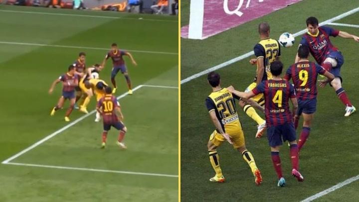 Así fue el gol de Messi que anuló Mateu Lahoz en el Barça-Atlético de 2014