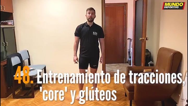 ENTRENA EN CASA (48): Entrenamiento de tracciones, 'core' y glúteos