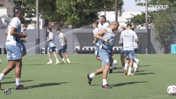 Santos' last training session before San Lorenzo clash