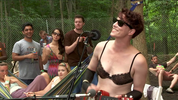 Exclusive Near-Naked Amanda Palmer Performance: Firefly 2013