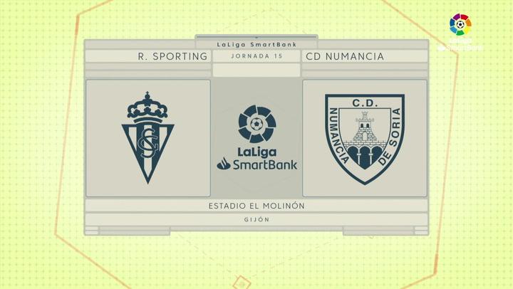 LaLiga SmartBank (J15): Resumen y gol del Sporting 0-1 Numancia