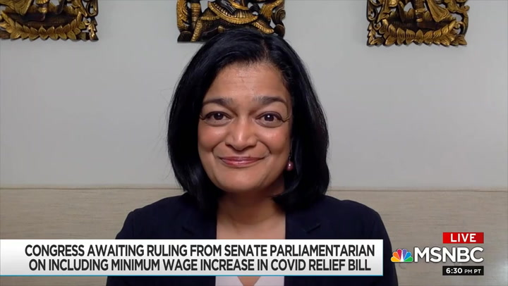 Jayapal: Senate Dems Should Overrule Parliamentarian if Needed to Raise Minimum Wage