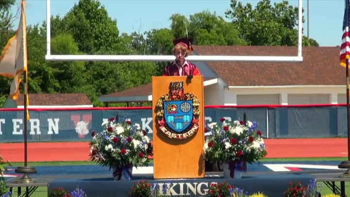Valedictorian's mic cut off during speech about coming out