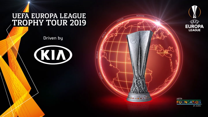 UEFA Europa League Trophy Tour 2019 | Jordan Boot Donation | Kia