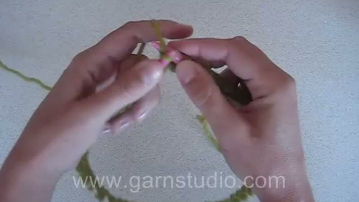 Hvordan strikke glattstrikk rundt på rundpinne