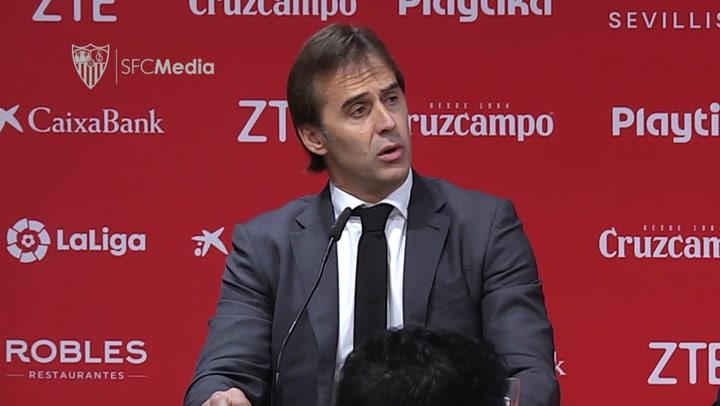 Julen Lopetegui, presentado como nuevo entrenador del Sevilla FC