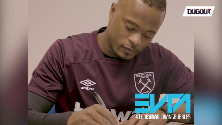 Evra's First Day As A Hammer!