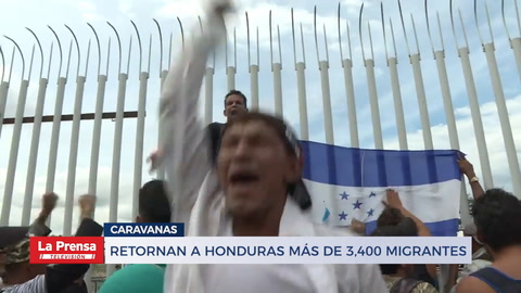 Retornan a Honduras más de 3,400 migrantes