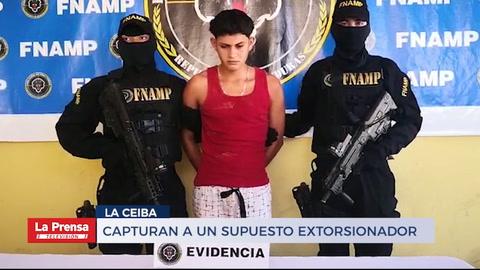 Capturan a un supuesto extorsionador en La Ceiba
