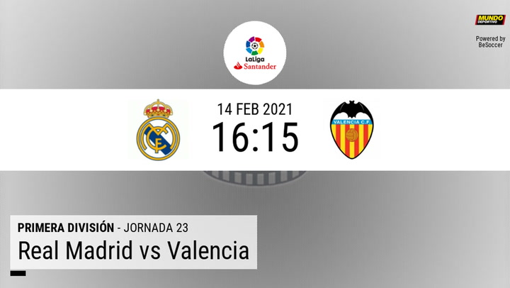 Real Madrid - Valencia: las estadísticas de la previa