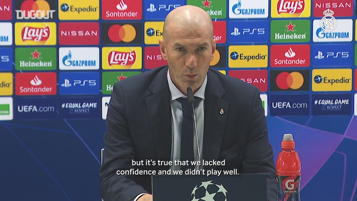 Zidane: 'We lacked confidence and we didn't play well'
