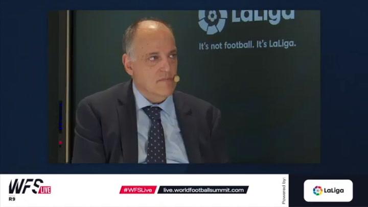 "Javier Tebas: ""Entre que vengan Neymar o Xavi al Barça me quedo con que siga Messi"""