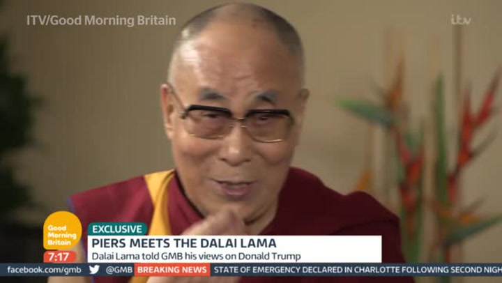 Dalai Lama Pokes Fun At Donald Trump With Amusing Impersonation The Independent The Independent