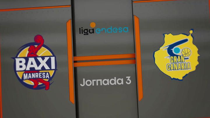 Resumen del partido de la Liga Endesa Baxi Manresa-Gran Canaria