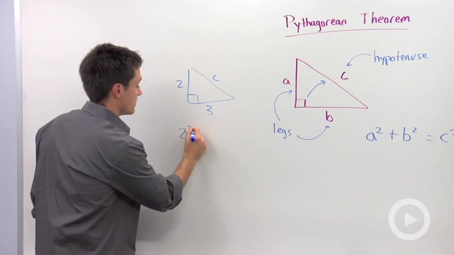 Using the Pythagorean Theorem to find a Missing Hypotenuse