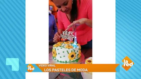 Hondureña se lleva tremenda sorpresa al partir su pastel de cumpleaños