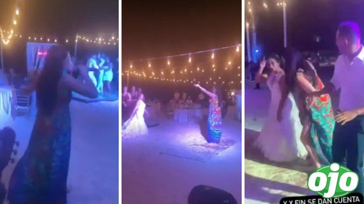 Ana Bárbara sorprende a novios en plena boda al llegar a la fiesta de manera inesperada | VIDEO
