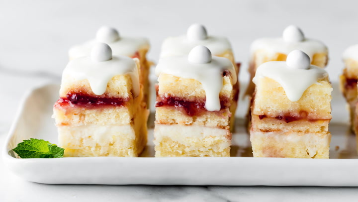 Lemon Berry Petit Fours (For Beginners! )