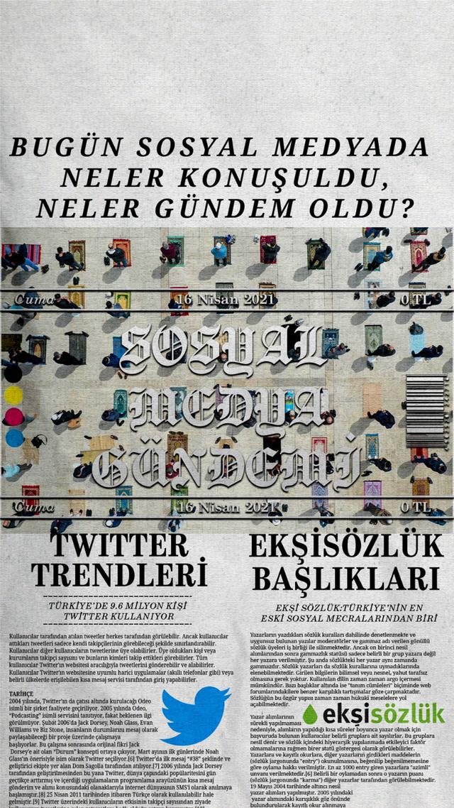 Sosyal medyayı sallayanlar - 16 Nisan