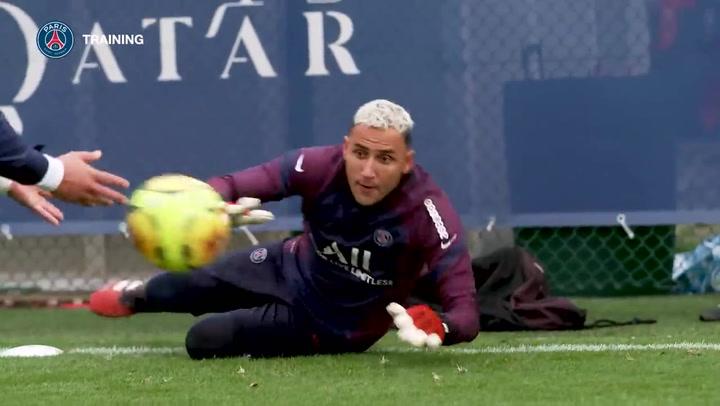 Keylor Navas se prepara con el PSG para estar listo contra el Barça