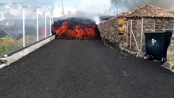 Lava engulfs 100 homes after the Cumbre Vieja erupts in the Canary Islands