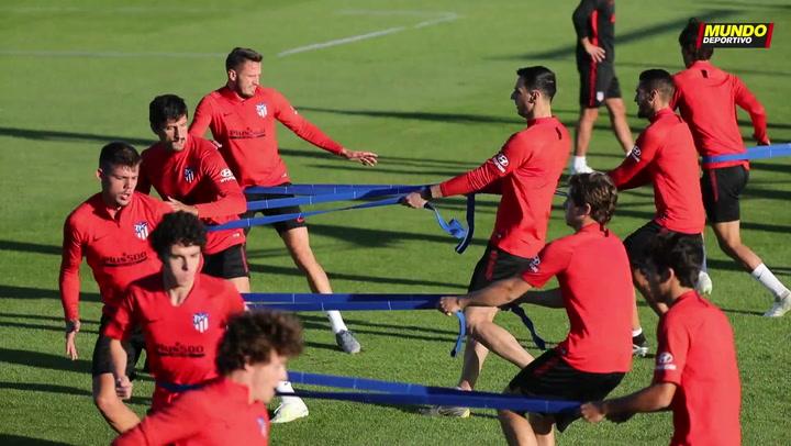 Entrenamiento del Atlético en Los Ángeles de San Rafael