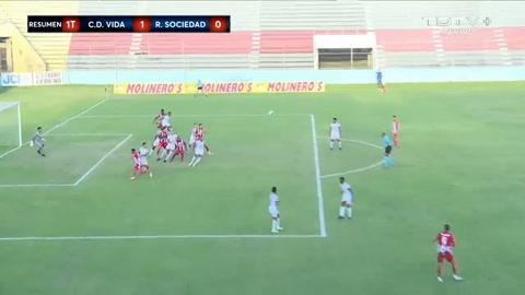 Bryan Barrios anota el primer gol ante la Real Sociedad (Liga Salvavida)
