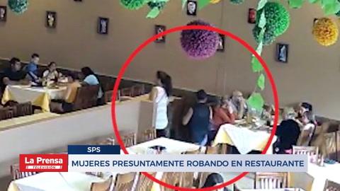 Circula video de mujeres presuntamente robando en restaurante de San Pedro Sula