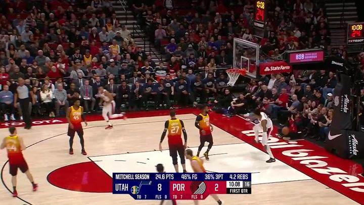 Damian Lillard (Blazers), el más destacado de la jornada de la NBA del 1 de febrero 2020