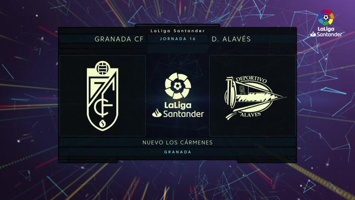 LaLiga (J16): Resumen y goles del Granada 3-0 Alavés