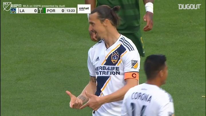 Zlatan Ibrahimović Incredible Overhead Kick Attempt