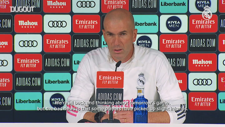 Zidane: 'We only think about the match against Villarreal'