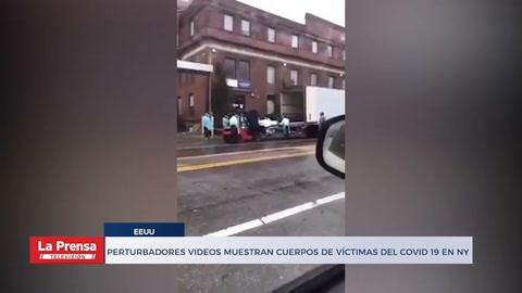 Perturbadores videos muestran cuerpos de víctimas del Covid 19 en NY