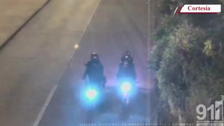 Video capta detención de dos asaltantes en motocicleta en la capital